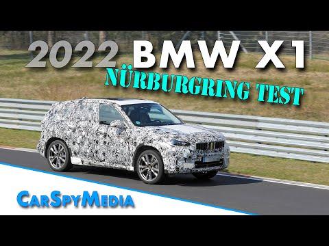 2022 BMW X1 prototype spied testing at the Nürburgring